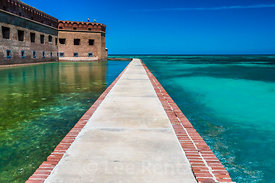 Moat Wall around Fort Jefferson in Dry Tortugas National Park