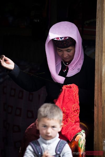 Woman and child, Tashkurgan, Xinjiang, China