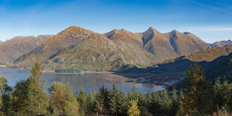 Loch Duich and the Five Sisters of Kintail