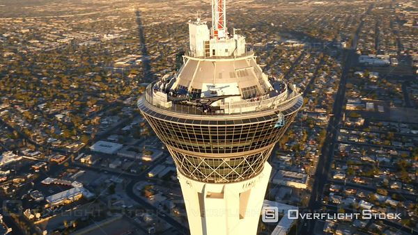Las Vegas, Nevada, USA  Aerial Footage of Stratosphere