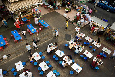 Street food restaurants Bangkok Thailand