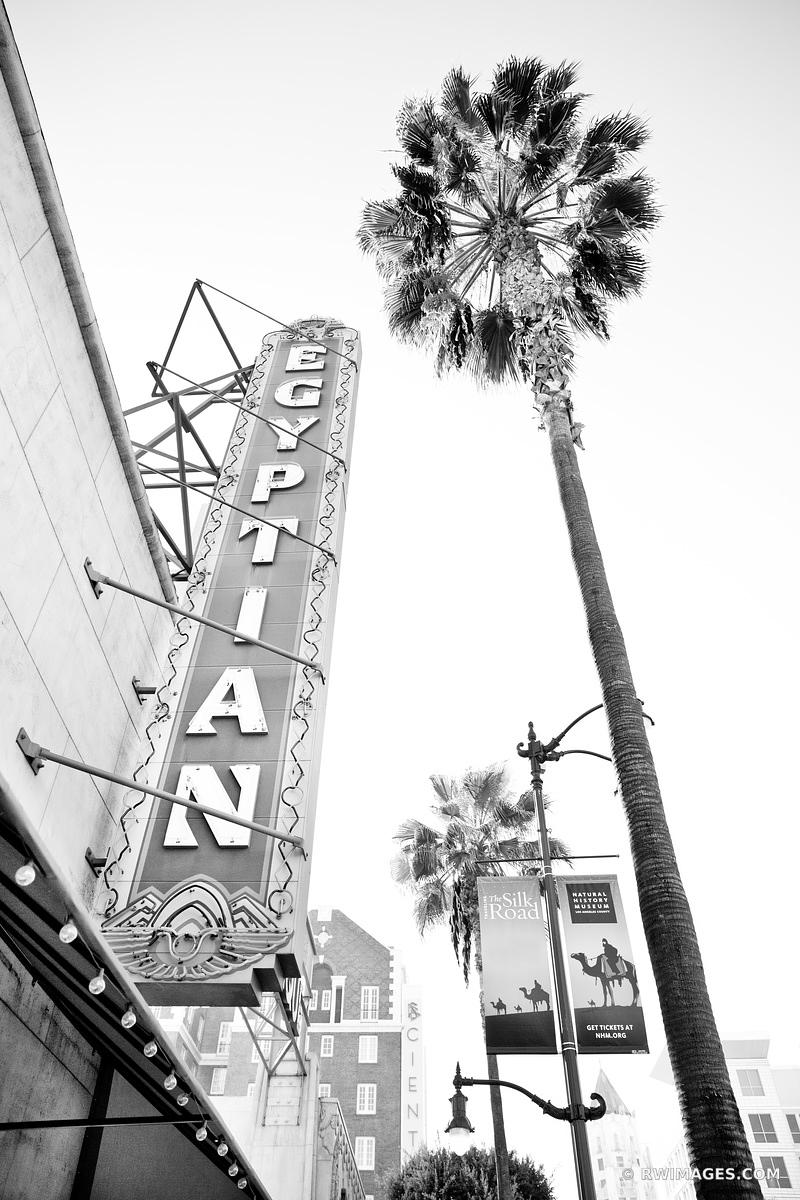 EGYPTIAN THEATRE HOLLYWOOD CALIFORNIA BLACK AND WHITE VERTICAL