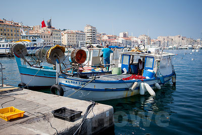 Small Fishing Boats tied up in Harbour
