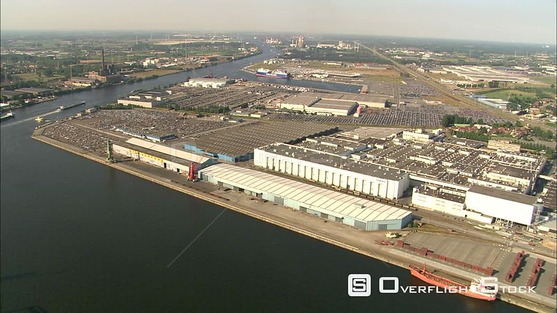 Over Volvo/Honda Europe auto plant in Ghent, Belgium