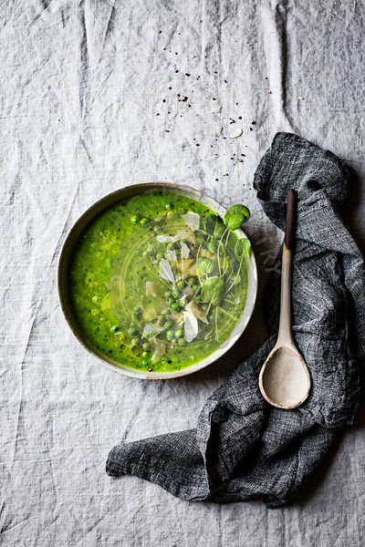 Green Pea and Cress Soup