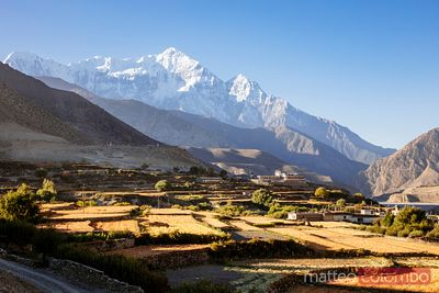 Kagbeni town and valley, Upper Mustang region, Nepal