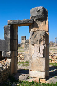 House of Columns, Volubilis, Morocco; Vertical