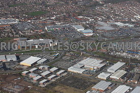 Widnes aerial photograph looking across Turnstone Business Park looking across Earle road and Dennis Road towards Ashley Way ...