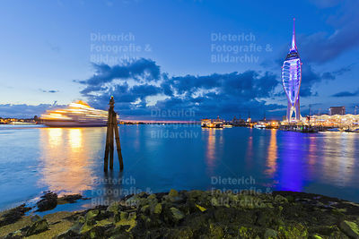 Spinnaker Tower, Gunwharf Quays, Portsmouth, Hampshire, England