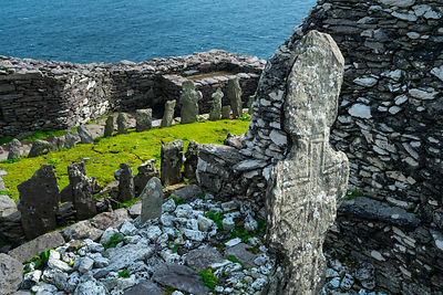 Monastery on Skellig Michael, Skellig Islands World Heritage Site, County Kerry, Ireland, Europe. September 2015.