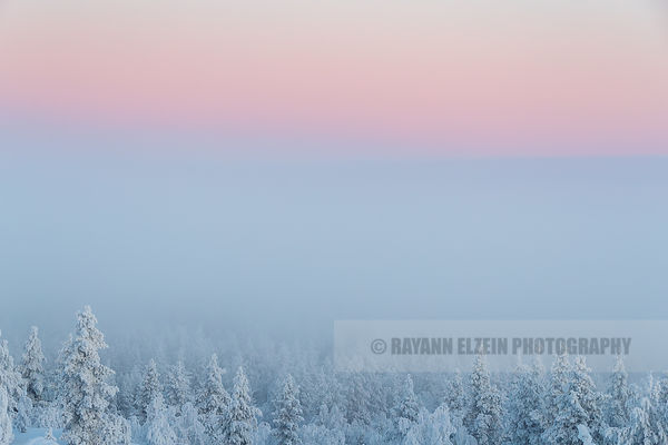 Belt of Venus from the Tuulispää fell near Inari