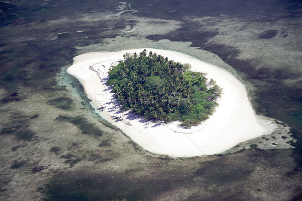 Coral atoll - Alphonse from the air, Seychelles