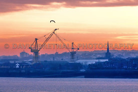 Birkenhead Docks At Sunset