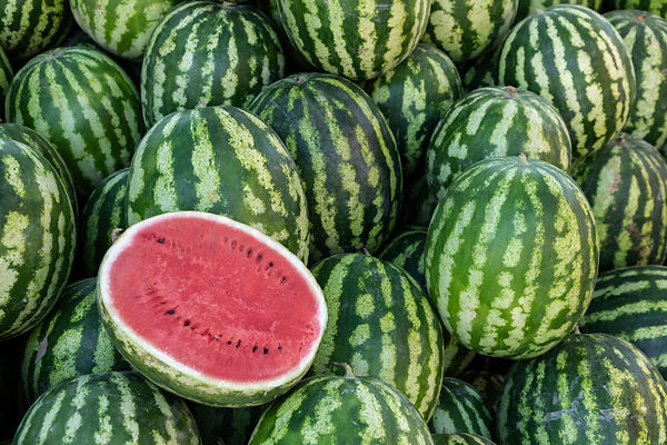 Watermelon on Sale at the Karayan Market
