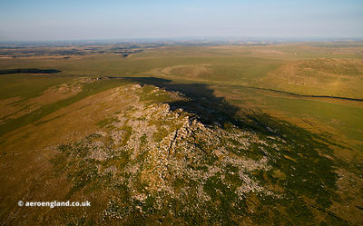 Roughtor Bodmin Moor  from the air