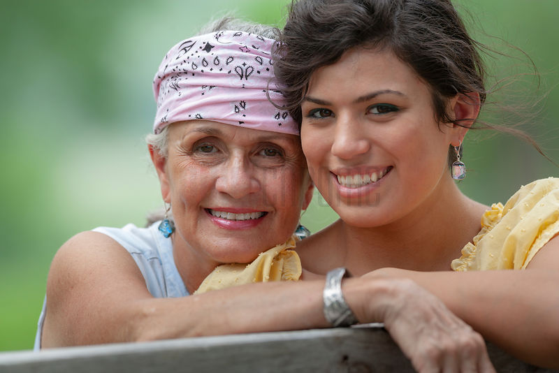 Portrait of Libby Hernandez and her Grandmother