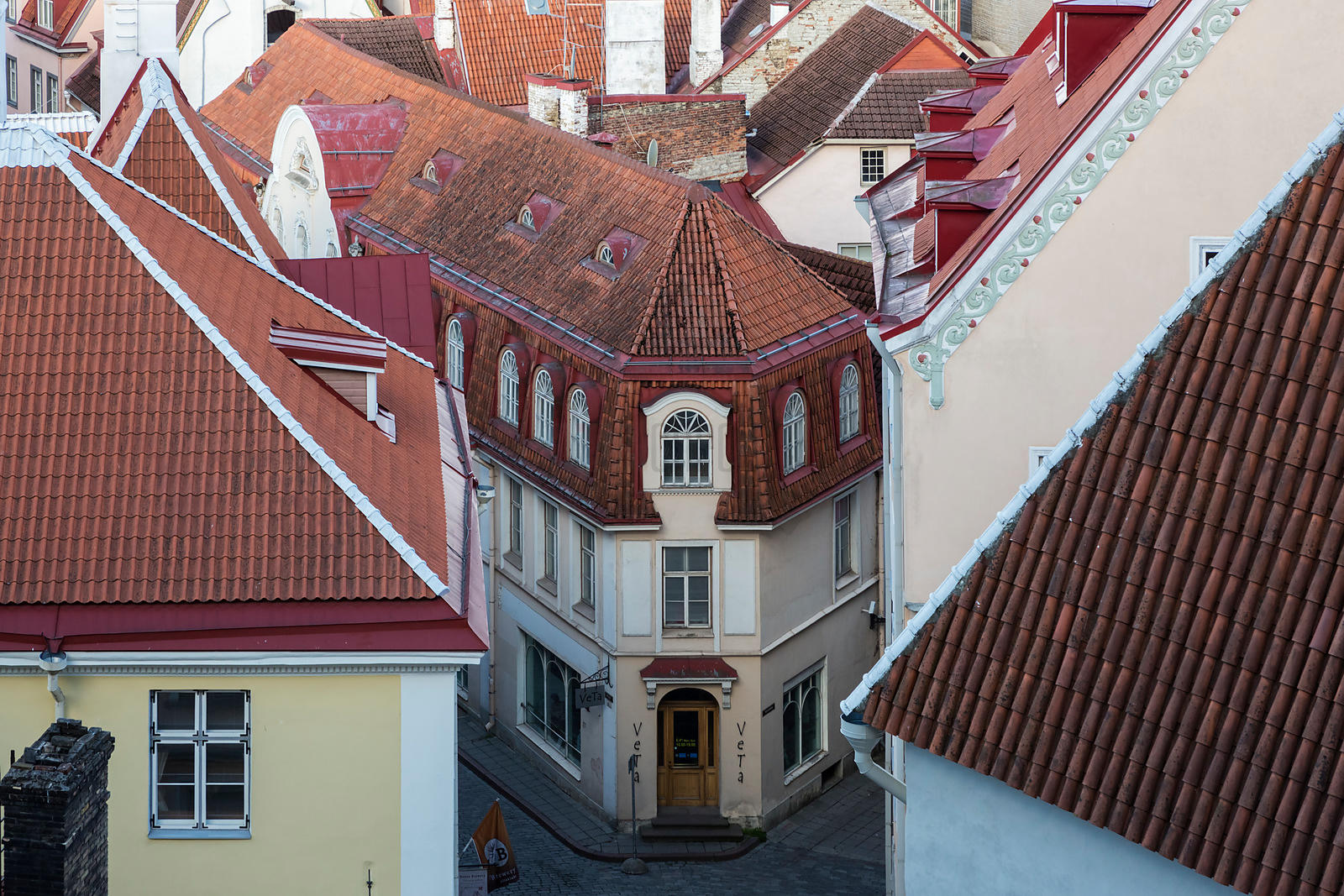 Looking over the Rooftops of Tallin from Toompea Hill