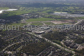 Manchester high level views of the old Ferranti Electronics factory and Atlas Business Park Simonsway Manchester Airport Wyth...