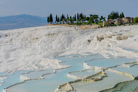 Travertine terraces in Pamukkale