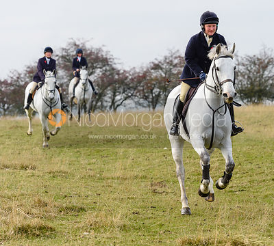 Holly Campbell above Braunston. The Cottesmore Hunt at Braunston