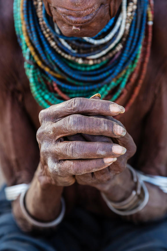 Closeup of Hands of Nyangatom Woman