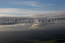 Winter Sky with Steam Plumes rising from Fiddlers Ferry Power Station Cooling Towers