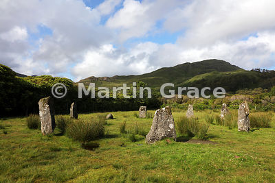 Lochbuie Stone Circle with Creach-Beinn behind, Lochbuie, Isle of Mull, Argyll & Bute, Scotland
