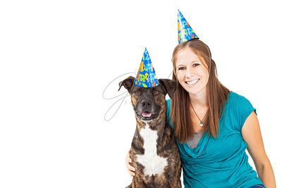 Happy Birthday Girl and Dog