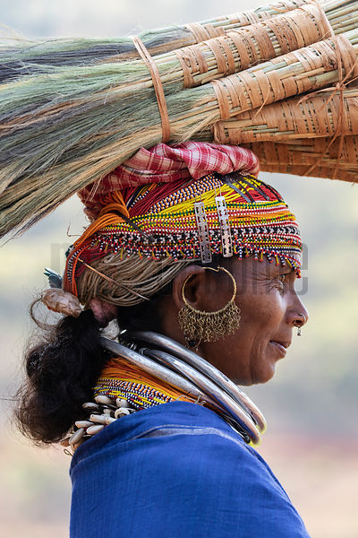 Portrait of a Woman from the Bonda Tribe
