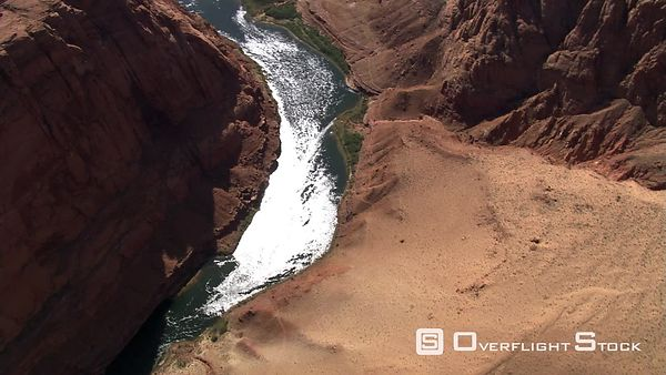 Widening aerial view of Arizona's Marble Canyon