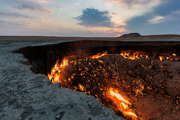 Door to Hell at Sunrise