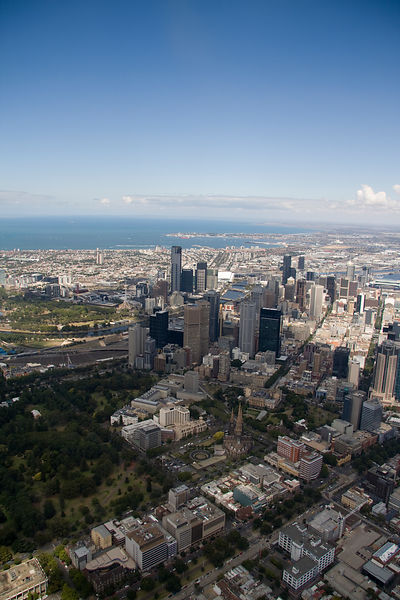 Aerial view of Melbourne No.8