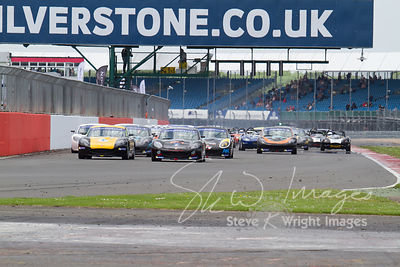 Action from the Ginetta support races at the Silverstone 500 - the third round of the British GT Championship 2014 - 1st June...