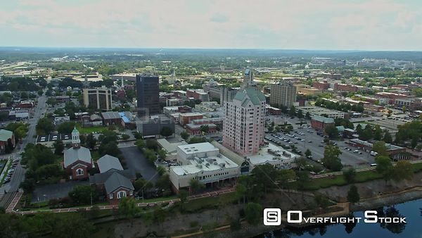 Downtown Augusta, GA, USA from over Savannah River