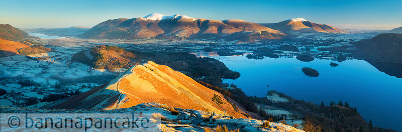 Keswick and Derwent Water from Catbells - BP3376B