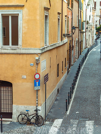Narrow streets in old town, Rome, Italy