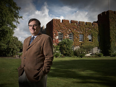 Editorial location portrait of Sir Brooke Boothby, Fonmon Castle