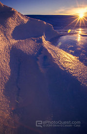 Ice-Undulations at Sunset