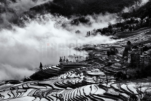 View of the Yuanyang Ice Terraces from Duo Yi Shu Viewpoint