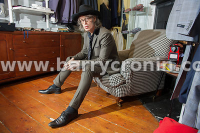 16th January, 2015.Mike Scott, founder and lead singer with The Waterboys photographed in Rebirth of Cool, Dublin.Photo:Barry...