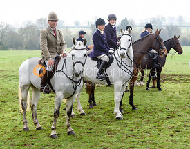 Bruce McKim at the meet. The Cottesmore Hunt at Braunston