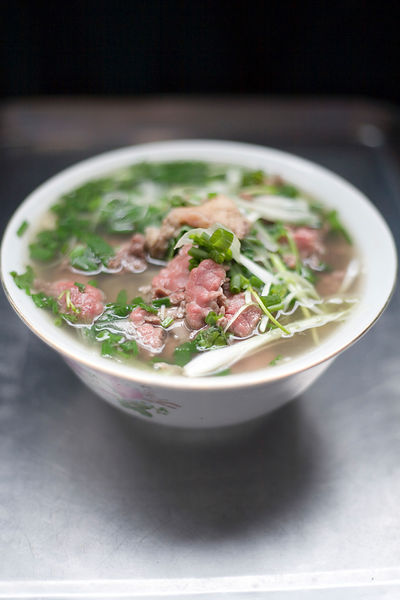 A dish of Pho in the popular Gia Truyen cafe