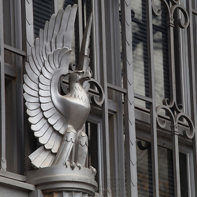Eagle architecural detail on a bank in downtown Greenville, SC