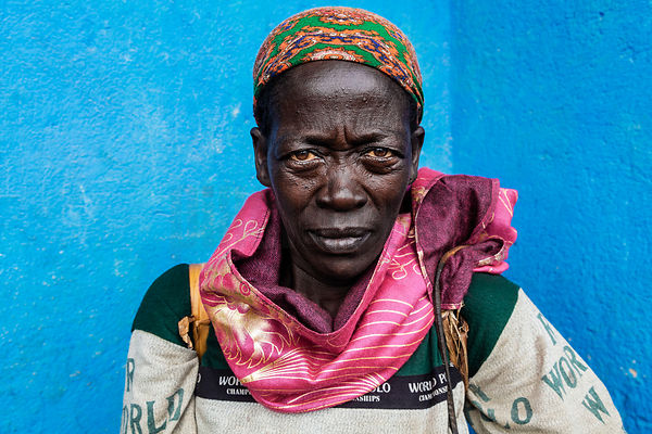 Portrait of a Woman at the Jinka Market