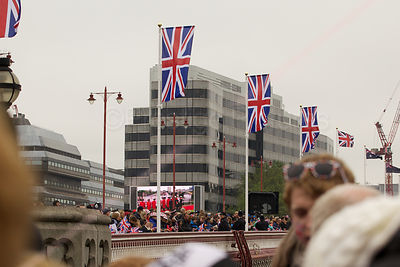 Crowds Watching the Queen Diamond Jubilee River Pageant