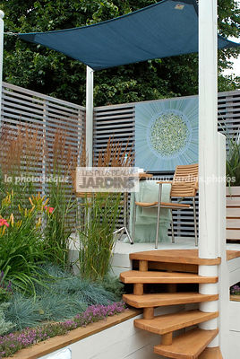 Aromatic plant, Garden chair, garden designer, Garden furniture, Garden table, Pergola, Stair, Terrace, Thyme, tight cloth, Trellis, Contemporary Terrace, Digital, Grasses