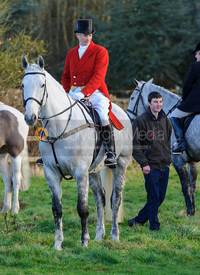 At the meet - The Belvoir Hunt at Waltham House