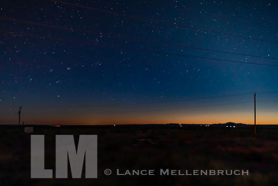 Marfa lights during blue hour