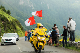 Official Yellow Bike on Col d'Aubisque- Tour de France 2011