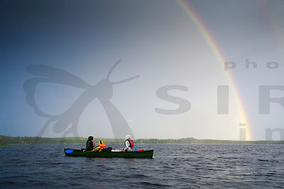 Rainbow And Paddlers